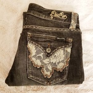 [Miss Me] Black Wash Jean's with Lace | 28